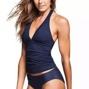 ATHLETA Shirrendipity Halter Tankini Swim Top XXS